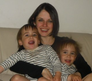 Beth Alexander with her sons, Samuel and Benji