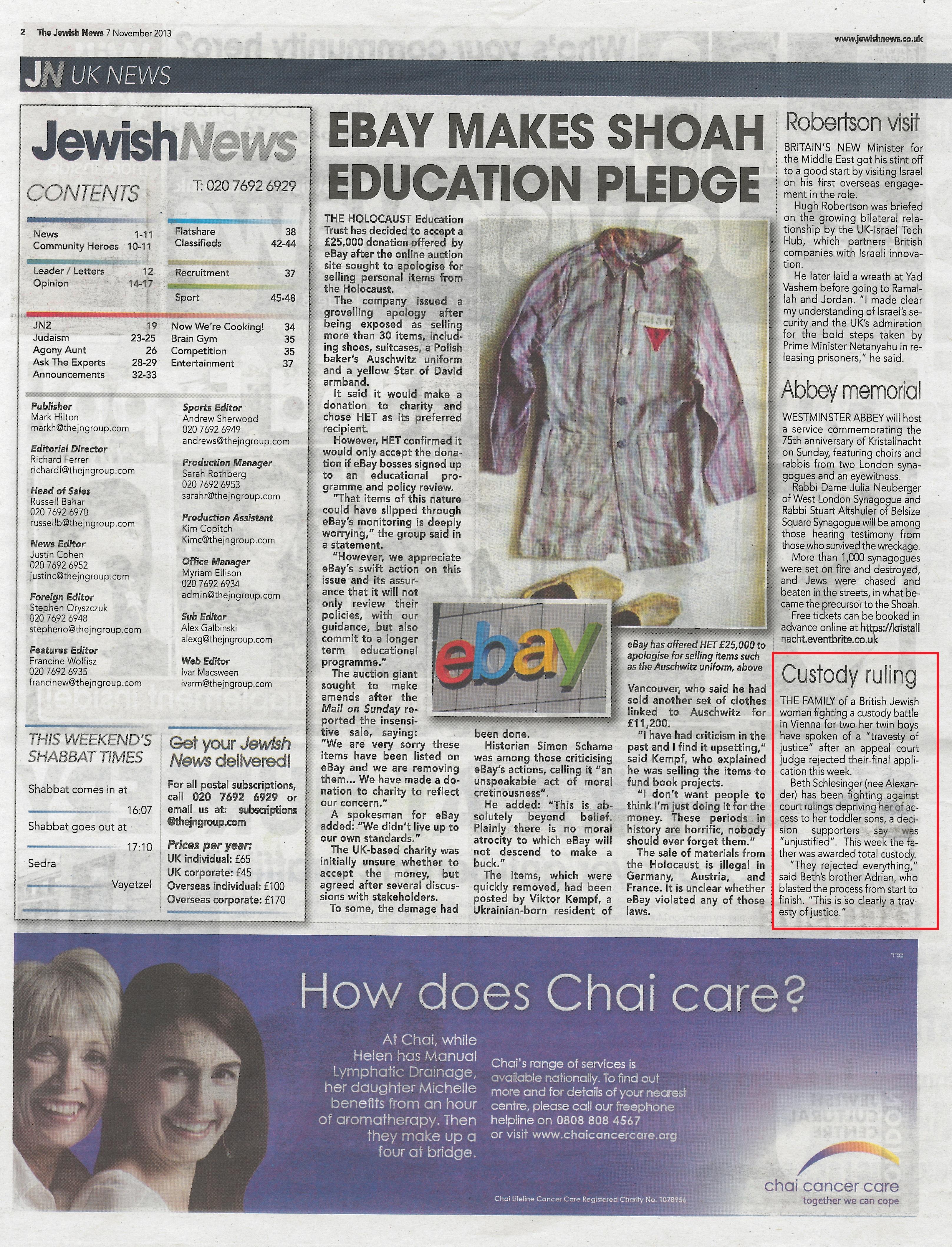 The Jewish News 08.11.2013