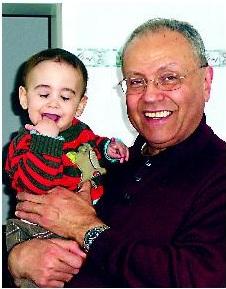PROUD grandpa Jonny with Sammy