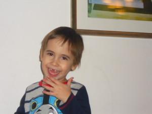 Benji in new Thomas pyjamas