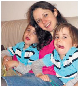 MAMA DAY: Beth Alexander with twins Sammy and Benji