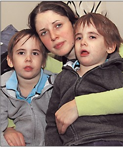 TRAGEDY: Beth and her twin sons